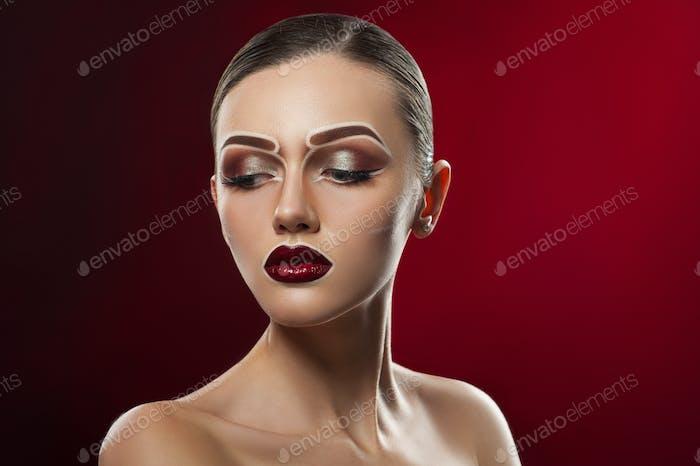 Creative pop art makeup