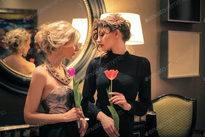 Two elegant girls