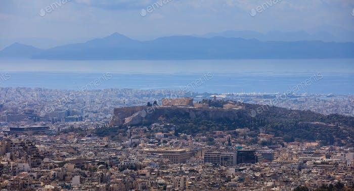 Panoramic view of Athens Greece