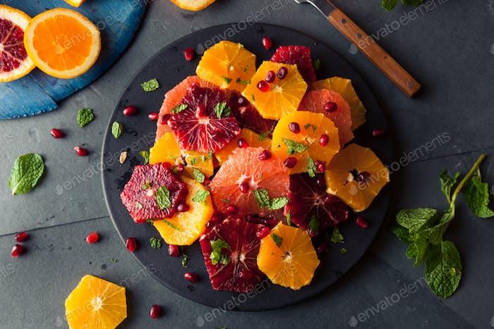 Raw Homemade Citrus Salad