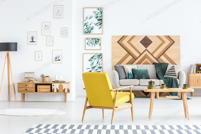 Multifunctional living room interior