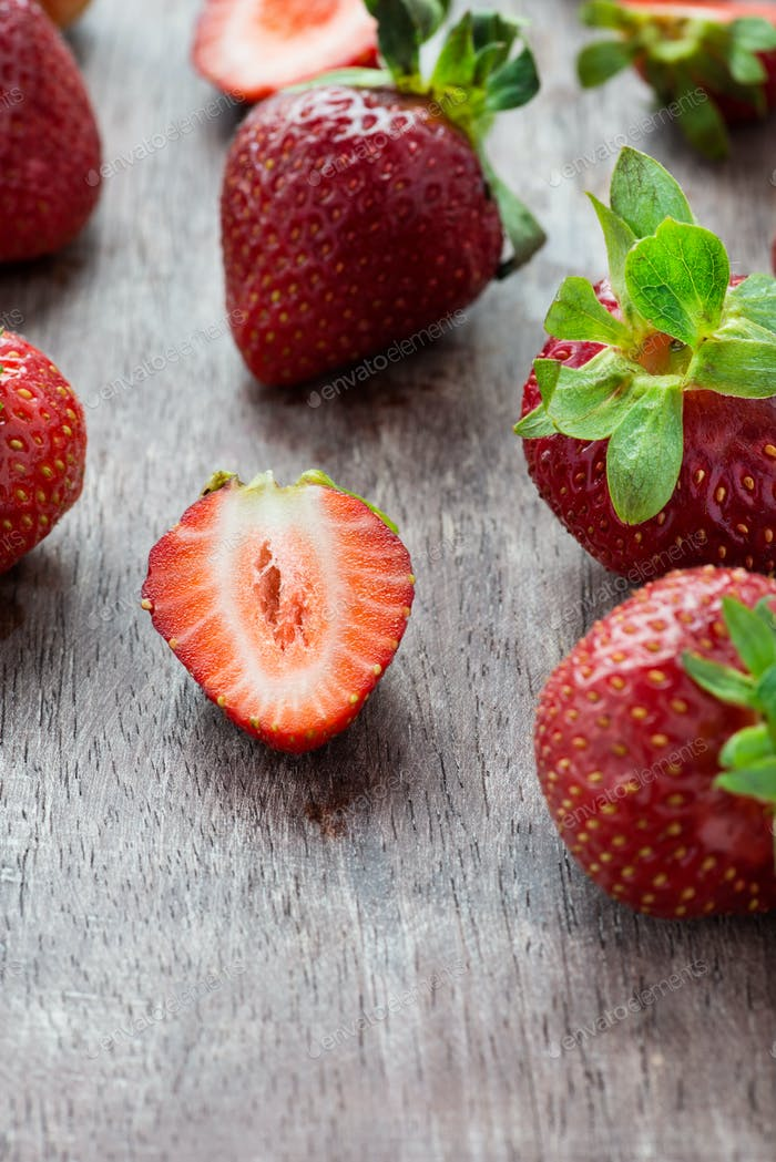 Thumbnail for Strawberries  on wooden table