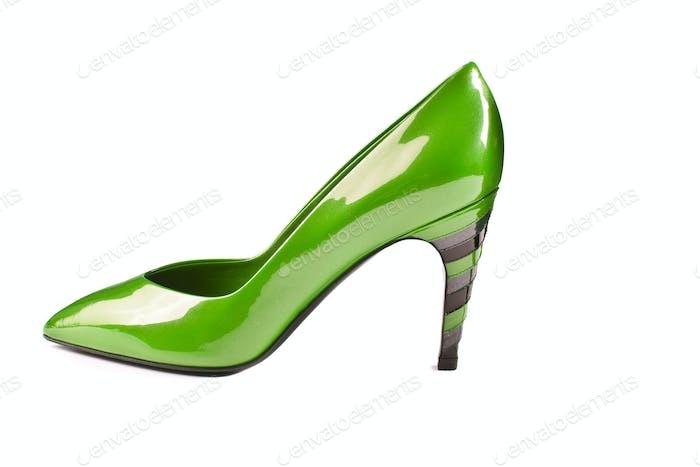 green shoe