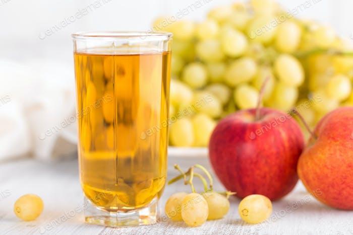 Grape and apple juice