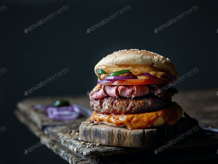 fresh tasty steak burger
