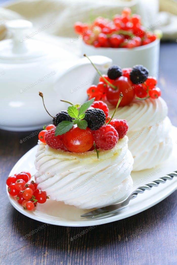 Traditional Summer Dessert Pavlova