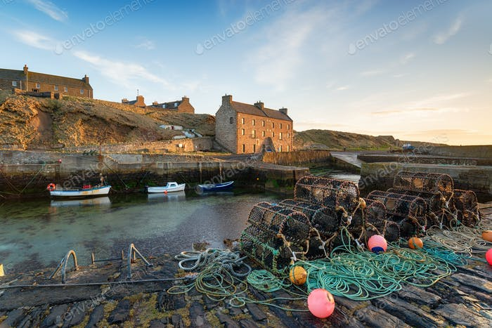 Keiss Harbour in Scotland