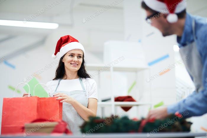 Happy employees enjoying work in creative studio