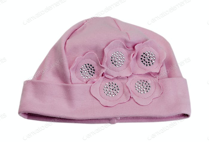 Children's pink cap.
