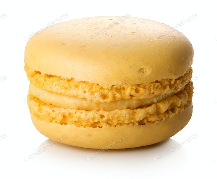 Lemon macaron isolated