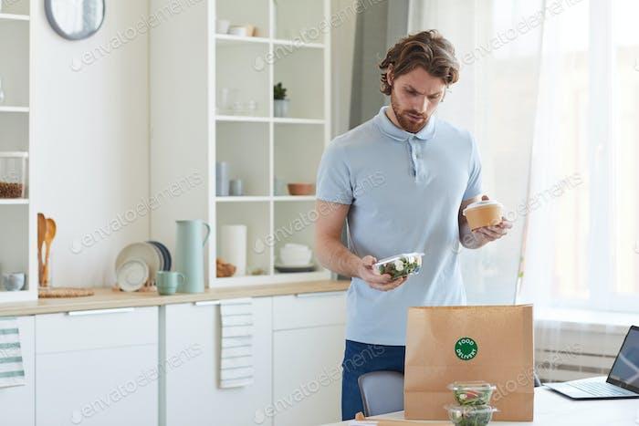 Man ordering takeaway food