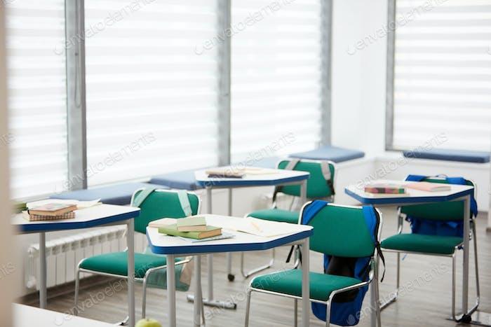 Empty Classroom Interior in Elementary School