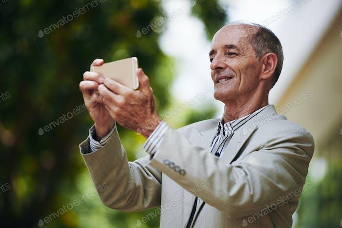 Posing for selfie