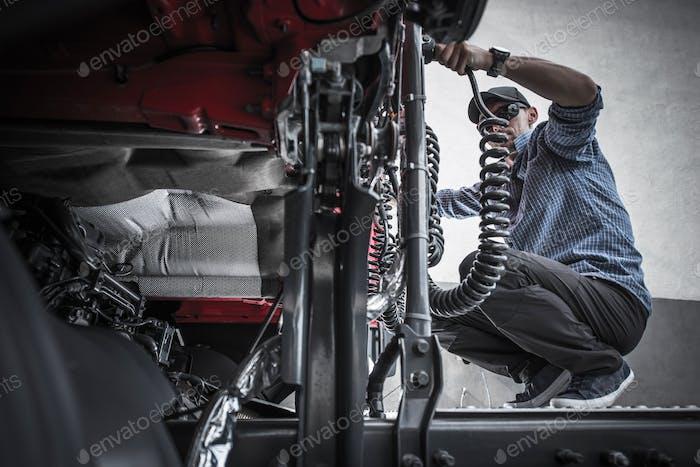 Trucker Semi Maintenance