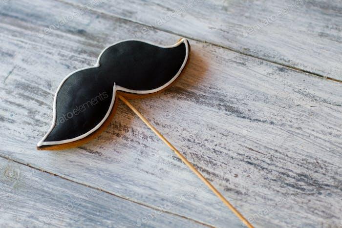 Cookie in Form eines Schnurrbartes