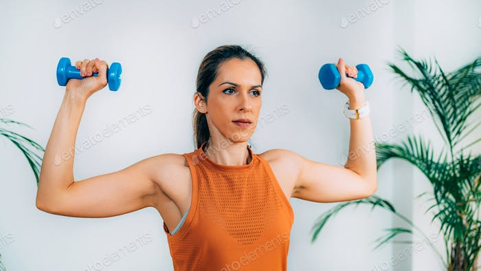 Exercising with Dumbbells at Home