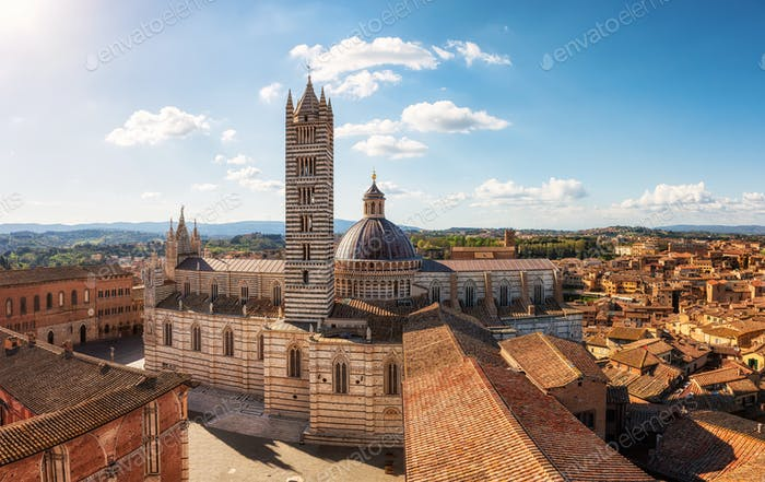 Old town of Siena, Italy