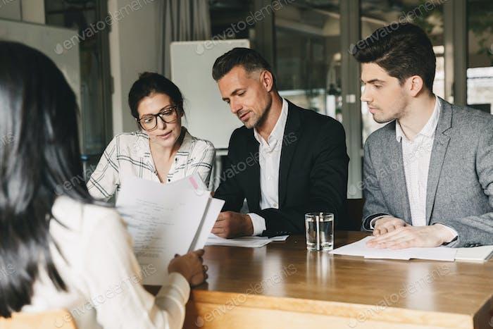 Concepto de Negocios, carrera y contratación - Equipo de empleadores en