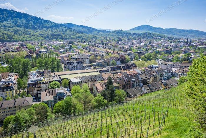 the city Freiburg im Breisgau Germany