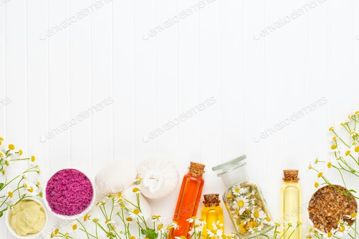 Thumbnail for Composition aromatherapy with natural cosmetics.