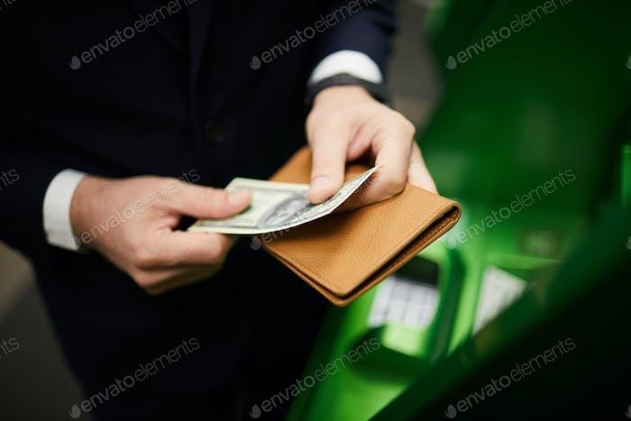 Preparing cash