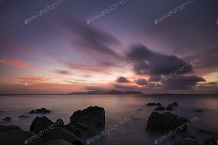 Tropical Praslin Sunset, Seychelles
