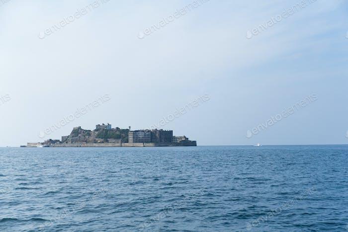 Abandoned Battleship island in Japan