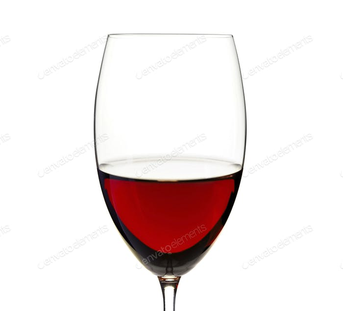 Red wine in a glass close up