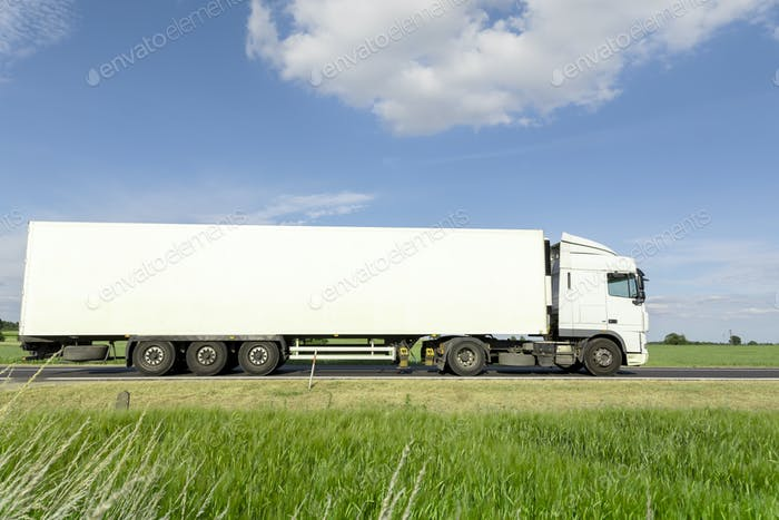 transportation truck on the road