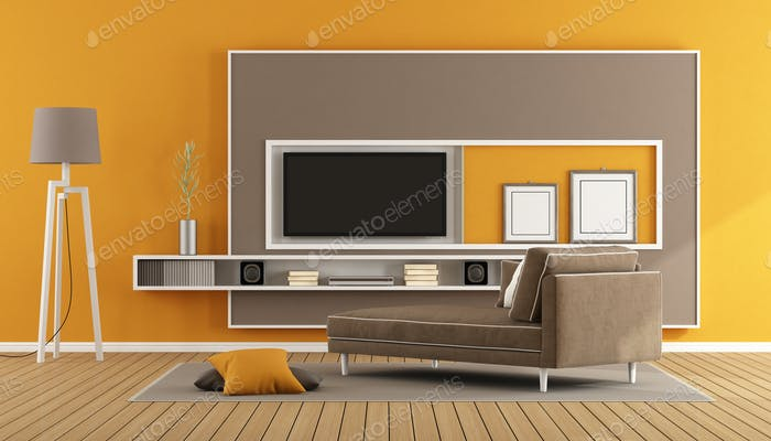 Living room with tv unit