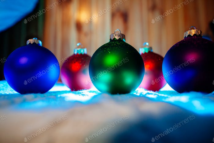 new year  ornament balls collection background
