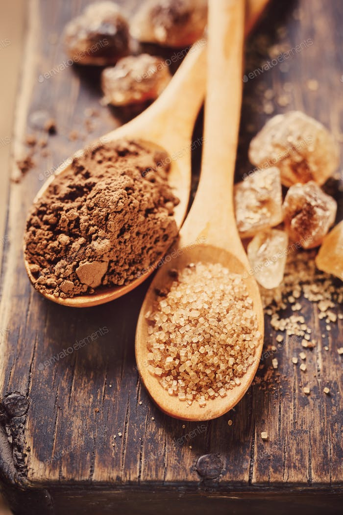 Brown Sugar and Cocoa Powder
