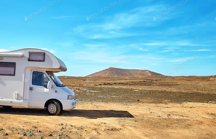 Camping car in Lanzarote island