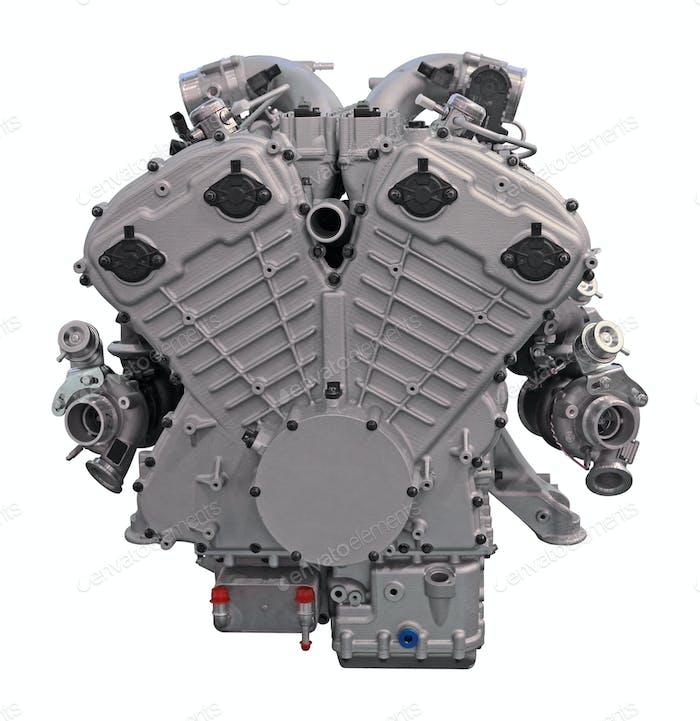 Motor de coche Moderno aislado sobre Fondo blanco