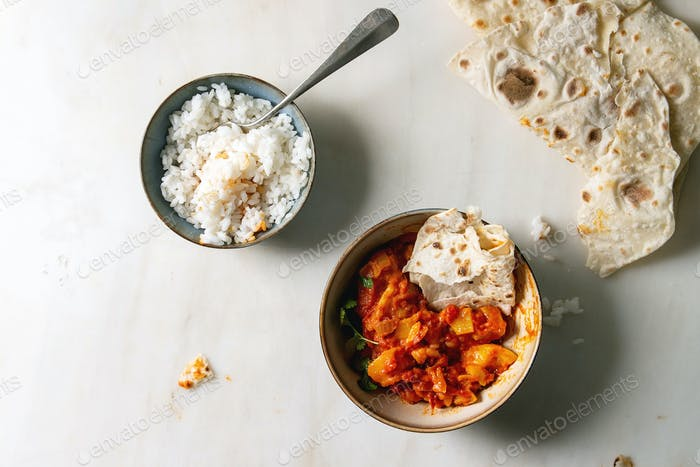 Vegan jackfruit curry