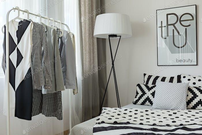 Modern woman's bedroom