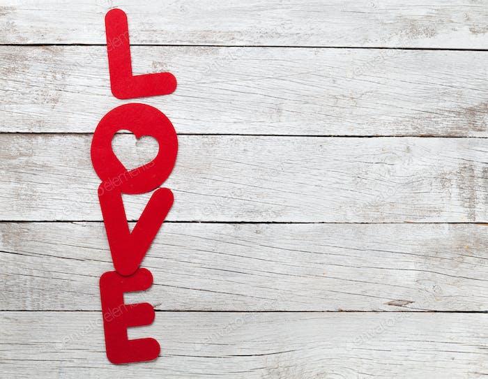 Valentinstag Grußkarte mit Liebeswort