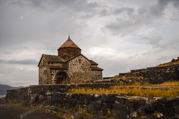 Monastery of Sevanavank and surroundings in Armenia