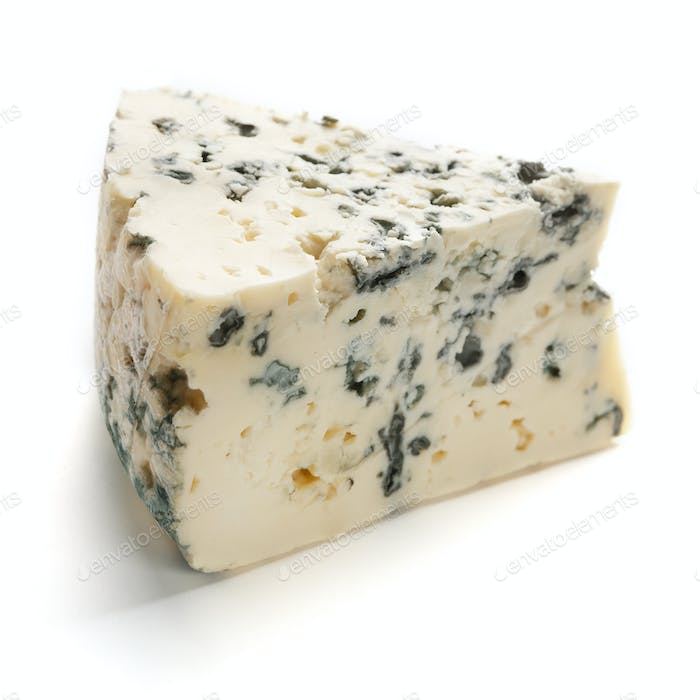 Blue cheese on white
