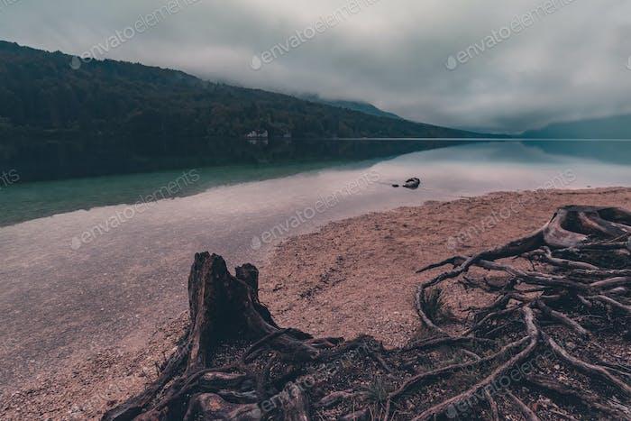 Aufbruch der Morgendämmerung am Bohinj See