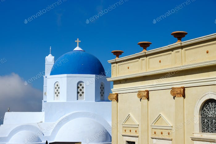 Church and old house in Pyrgos