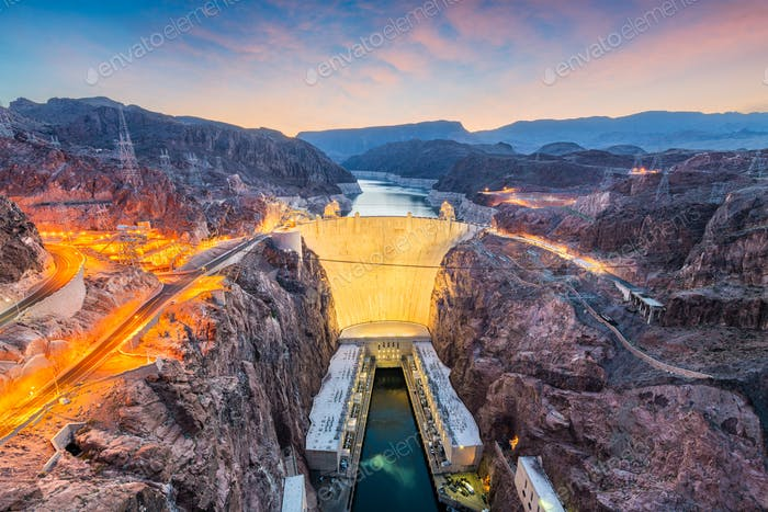 Hooover Dam on the Colorado River
