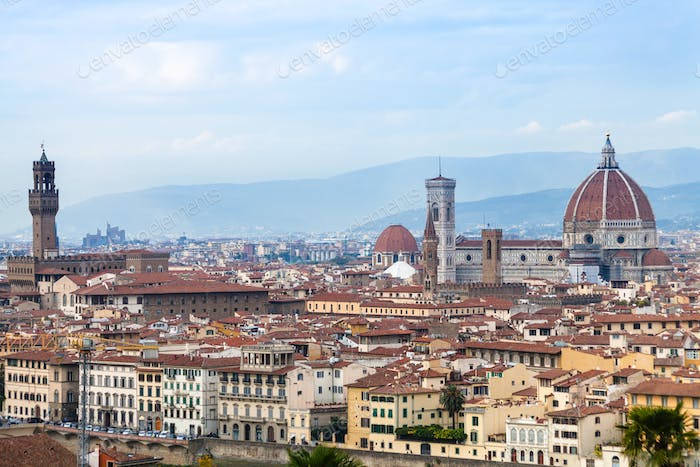 view of historic centre of Florence city