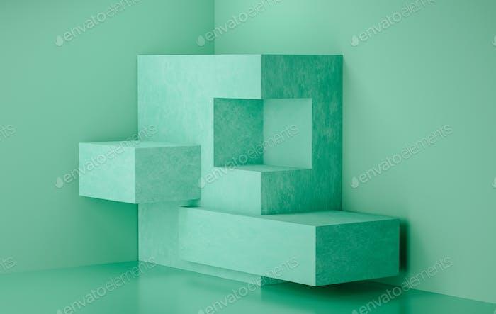 3d rendering stage display background