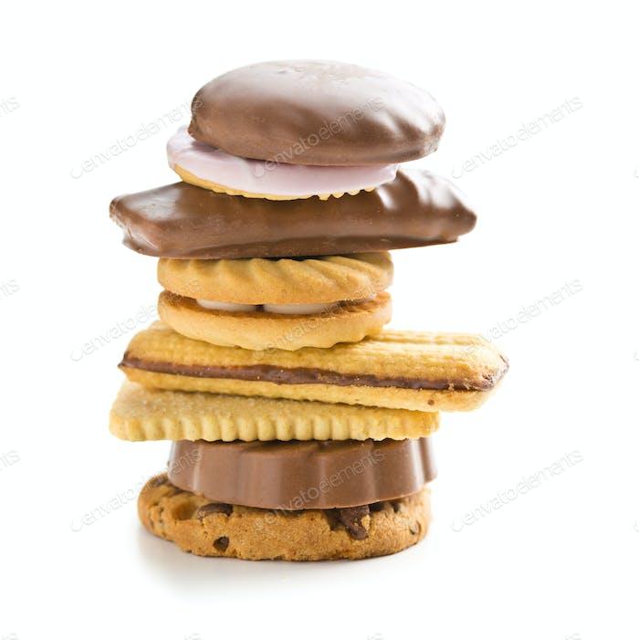 Varias galletas dulces.