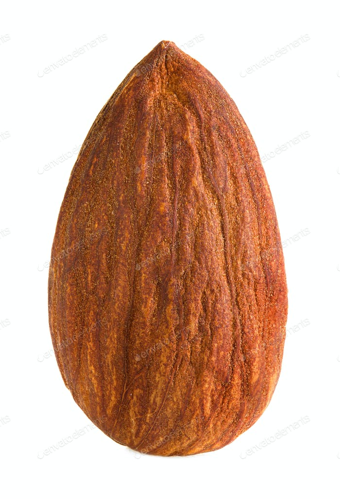almonds isolated on a white background
