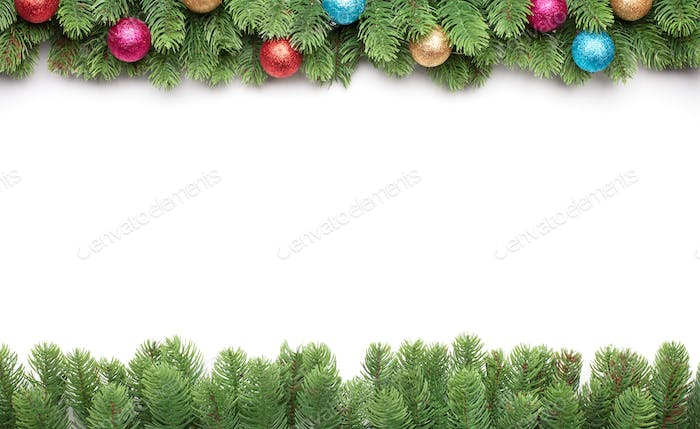Christmas frame with copy space