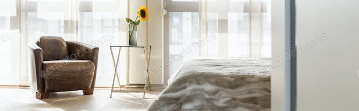 Bedroom with sunflower