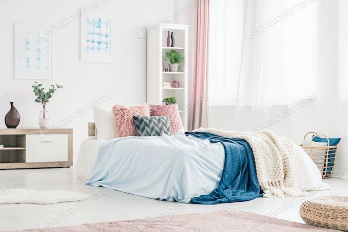 Pink And Blue Bedroom Interior Foto Von Bialasiewicz Auf Envato Elements Impressive Pink And Blue Bedroom