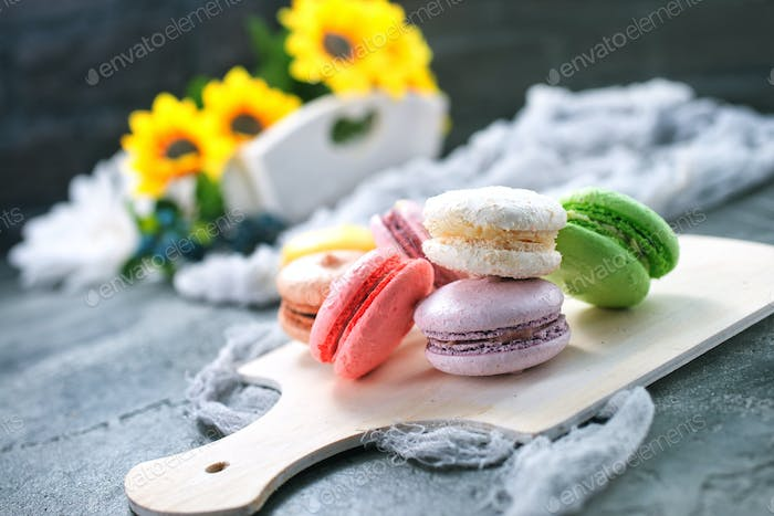 color macaroons